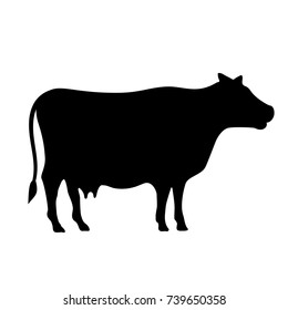 Farm cow moo vector icon illustration isolated on white background