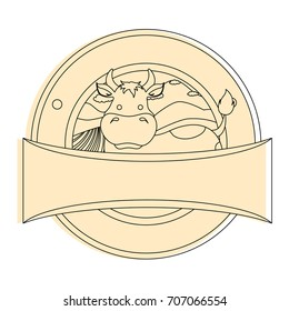 farm cow seal stamp