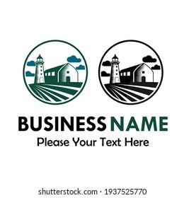 Farm design logo template illustration