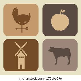 farm design over beige   background vector illustration