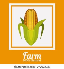 Farm design over yelllow background, vector illustration