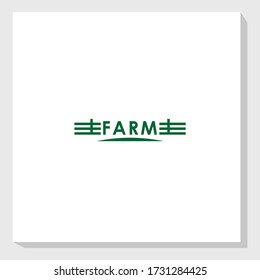 farm fence vintage logo design template vector, retro brand agriculture logo design inspiration