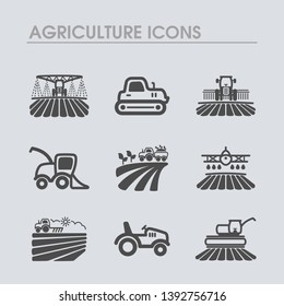 Farm Field icon. Agriculture transport sign. Graph symbol for your web site design, logo, app, UI. Vector illustration, EPS10