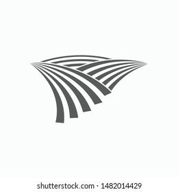 farm field icon, field vector, lea illustration