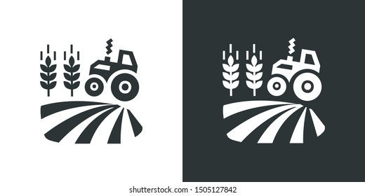 Farm Field Illustration Icon Vector