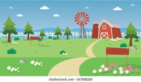 farm field vector