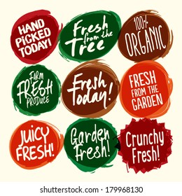 Farm Fresh Badge Set