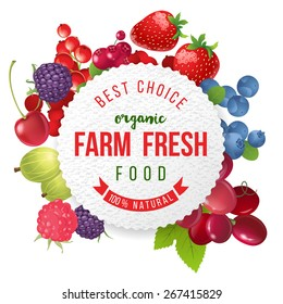 farm fresh berries emblem