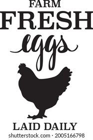 Farm Fresh Eggs Quote Vector