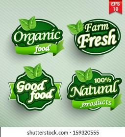 Farm fresh food label, badge or seal