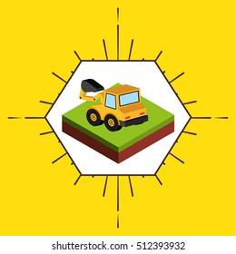 farm fresh isometric icon vector illustration design