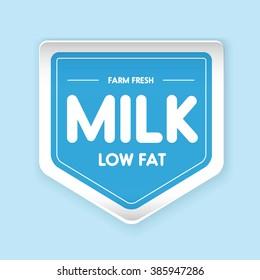 Farm fresh Milk - Low fat label