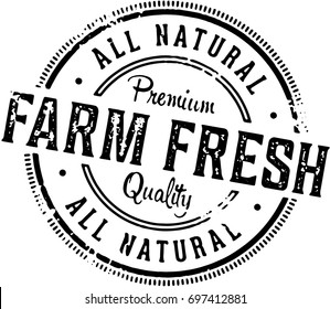 Farm Fresh Vintage Product Stamp