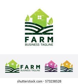 Farm, home. Vector logo template