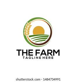 The Farm House Barn Windmill Symbol Logo Template