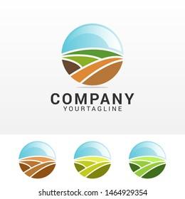 Farm house concept logo template