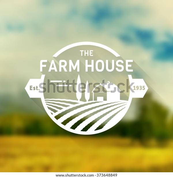 Farm Retro Style Logos