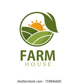 Farm house logo design template
