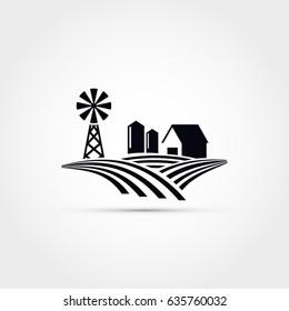 Farm house vector illustration