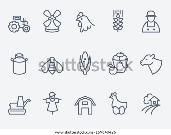 Landwirtschaftliche Symbole