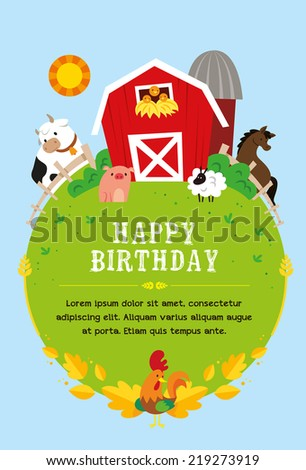 farm invitation child stock vector royalty free 219273919