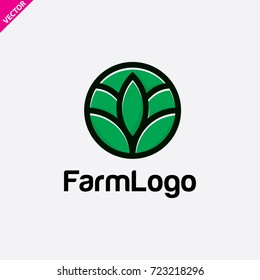 farm logo icon vector. emblem logo. farm design logotype