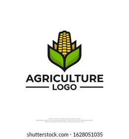 Farm logo with a picture of corn
