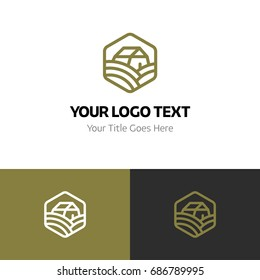 Farm logo template. Logo branding for your new corporate company. File can be use vector eps and image jpg formats