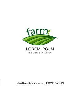 farm logo template design vector