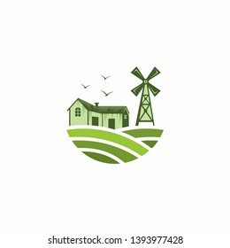 Farm Logo Template Stock Vector