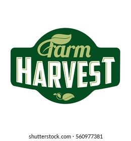 Farm logo. Vector illustration. Farm food, farm harvest. Web banners, advertisements, brochures, business templates. Isolated on a white background
