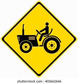 Farm Machinery Traffic Warning Sign