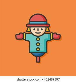 farm Scarecrow vector icon