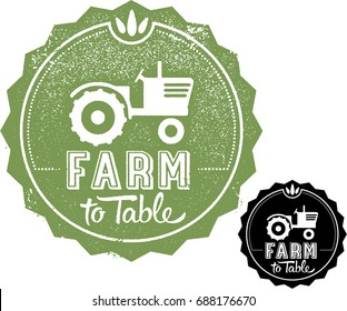 Farm to Table Menu Graphic Stamp