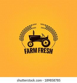 farm tractor design background