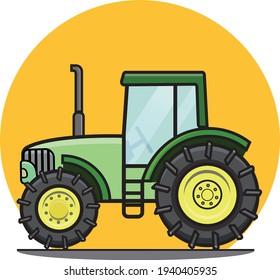 Farm tractor illustration vector john Deere