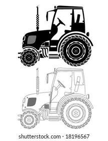 Farm Tractor silhouette