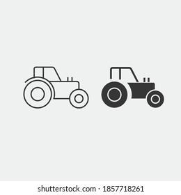 farm tractor vector icon agriculture machine