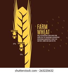 Farm wheat vector illustration