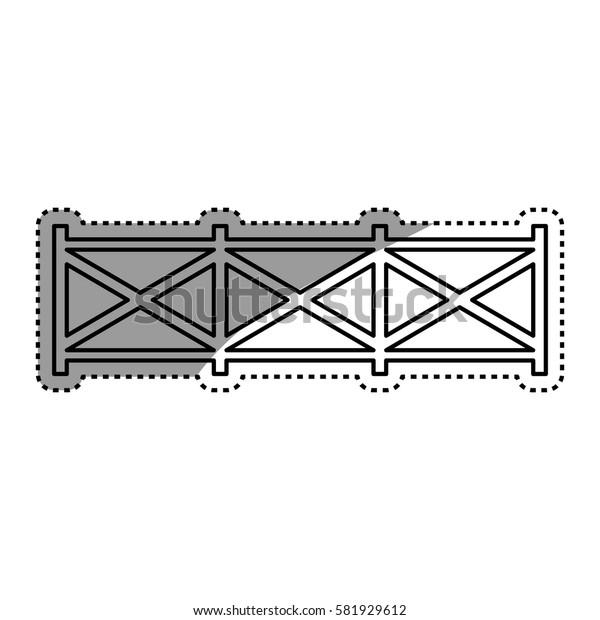 farm wooden fence icon vector illustration graphic design