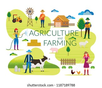Farmer, Agriculture and Farming Concept , Cultivate, Countryside, Field, Rural, People