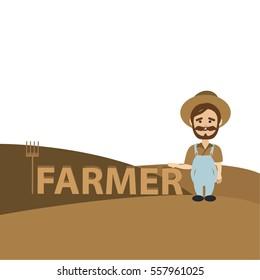 Farmer in flat design