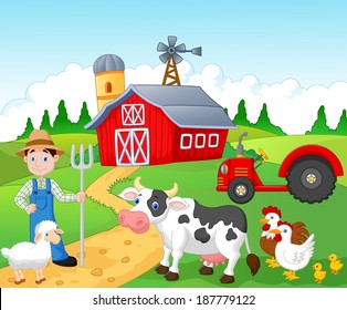 Farmer working in the farm