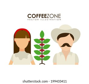 Farmers design over white background, vector illustration