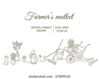 Farmers market background.