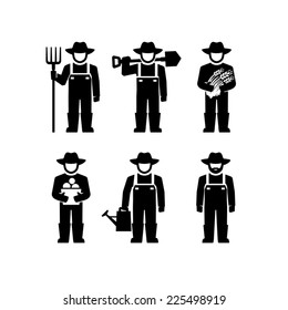Farmers Vector Figure Pictogram