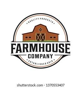 Farmhouse vintage logo design