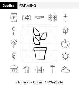 Farming Hand Drawn Icon for Web, Print and Mobile UX/UI Kit. Such as: Bag, Grain, Rice, Sack, Wheat, Letter, Massage, Paper, Pictogram Pack. - Vector