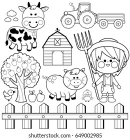 Farm Coloring Pages Images Stock Photos Vectors Shutterstock