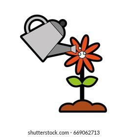 farming sprinkler with flower